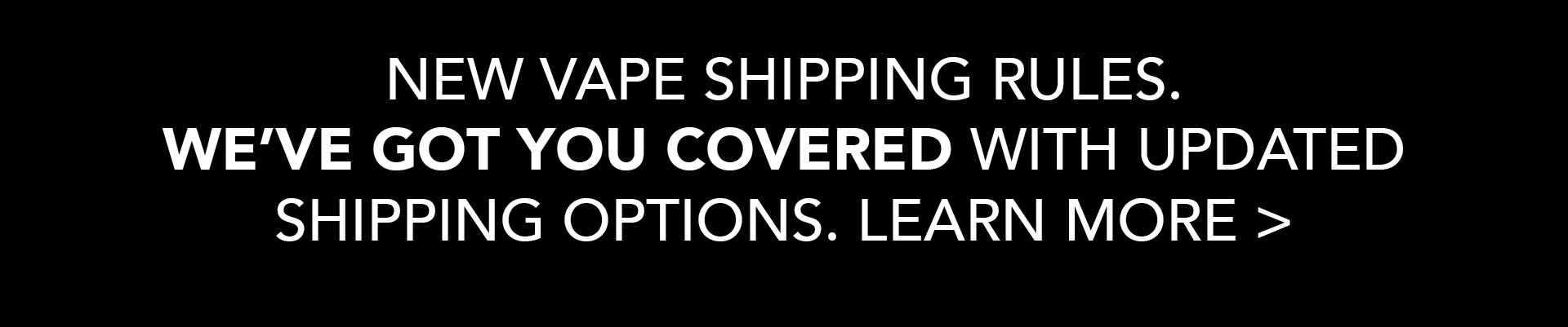 New Vape Shipping Rules Effective March 1, 2021
