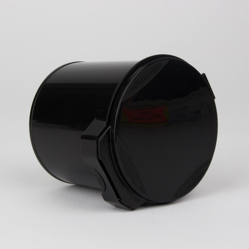 Kush Supply Co. Wide Mouth Canister in Black, 105 Dram