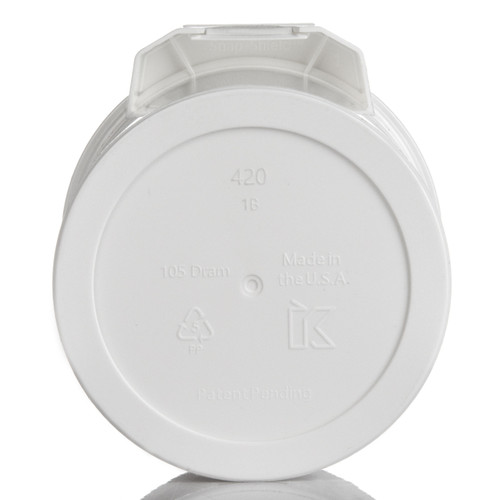 Kush Supply Co. Wide Mouth Canister in White, 105 Dram